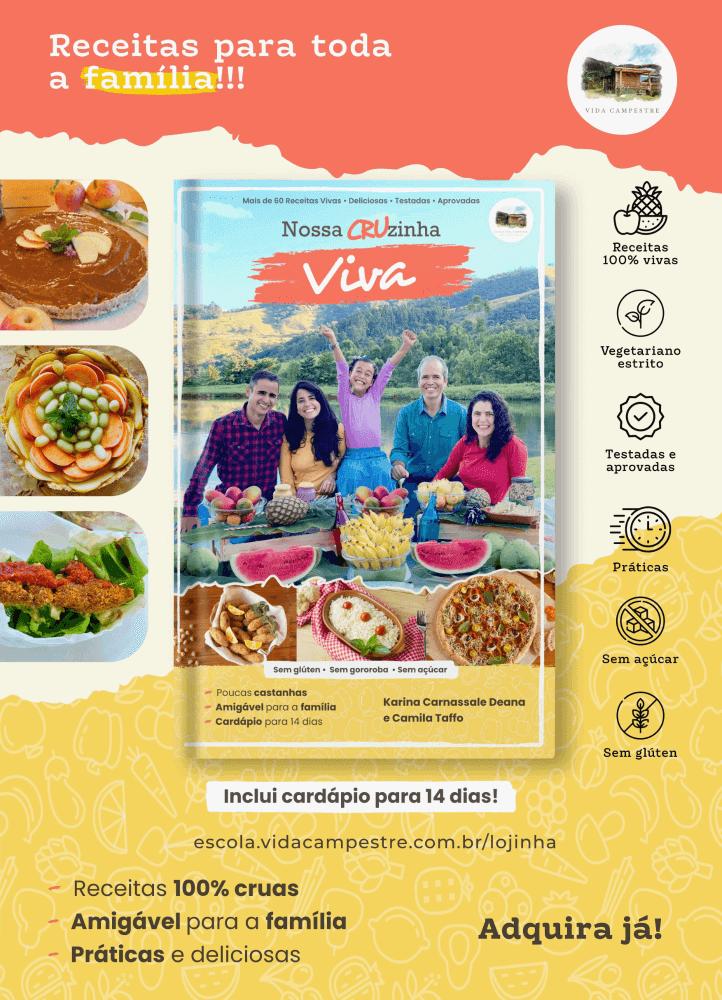 Ebook: Nossa Cruzinha Viva: Receitas 100% cruas, práticas e deliciosas.